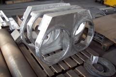 Monaż ispawanie ramy aluminiowej.