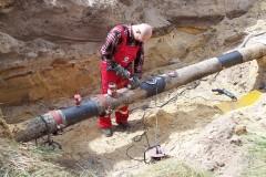 Przygotowanie do spawania fittingów i króćców na gazociągu wysokiego ciśnienia do zamknięcia prepływu gazu metodą T.D.Williamson.