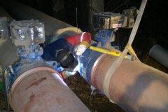 Jaworzno - rurociąg ciepłowniczy DN 500 spawanie zaworów.