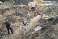 1 Wpięcie nowego ruruciągu wodnego DN 1400 do istniejącej magistrali wodnej.