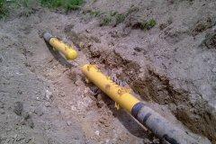 Śluzy  spawane przy modernizacji rurociągu w celu podwyższeni ciśnienia w gazociągu tranzytowym.
