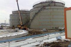 8 Bioagra S.A. Nysa - Montaż i spawanie zbiorników dwupłaszczowych do magazynowania etanolu.